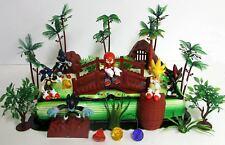SONIC The Hedgehog Deluxe Game Scene Birthday Cake Topper Set Sonic, Knuckles,