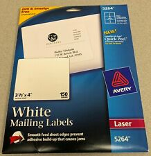 "Avery® White Laser Shipping Labels, 5264, 3 1/3"" x 4"", Pack Of 150"