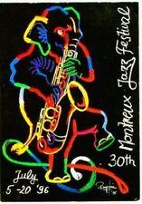 Original vintage poster JAZZ MONTREUX ELEPHANT SAX 1996 Knie