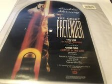 Queen Freddie Mercury The Great Pretender Uk Shaped Picture  1987 Rare