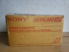 10 Sony Betacam Video Cassettes BCT-90MLA  UC for NTSC- Full Case 10 Tapes NOS