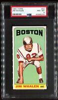 1965 Topps #22 JIM WHALEN Boston Patriots SP SHORT PRINT RC ROOKIE PSA 8 NM-MT