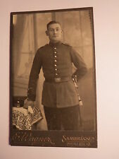 Saarbrücken - stehender Soldat in Uniform - Regiment IR 70 / CDV