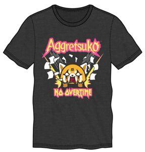 *Legit* Aggressive Retsuko Aggretsuko Anime NO OVERTIME Authentic T-Shirt TS7BL9