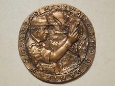 medaglia omaggio di Manzù alla città di Dante Ravenna 1980