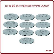 10 battery buttons CR2430 lithium Varta Industrielle