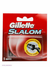 Gillette Slalom Men's Replacement Razor Blades 100% Genuine - 5 Count