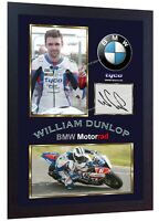 William Dunlop print photo signed autograph Framed