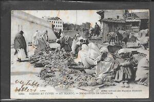 MOROCCO AGENCIES 1920 AU MAROC POSTCARD USED TO UK