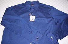Van Heusen Shirt 4xl 21-21.5 Big & Tall Blue No Iron Traveler Stretch D26