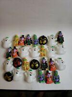 Vintage Blow Mold Halloween String Lights Pumpkins  Muumy Frankenstein Ghosts 37