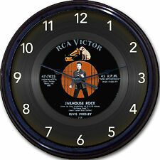 Elvis Presley Jailhouse Rock Wall Clock Retro Image of Vinyl 45 RPM Record 10""