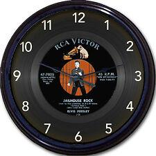 "Elvis Presley Jailhouse Rock Wall Clock Retro Image of Vinyl 45 RPM Record 10"""