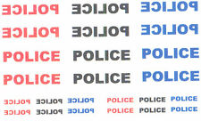 24 x DECAL POLICE sign & mirror image FOR CODE 3 MODEL corgi dinky etc