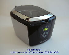 iSonic® Digital Ultrasonic Cleaner D7810A, silver/black color, chrome trim, 110V