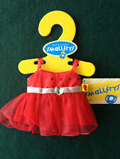 """Build a Bear Red Fancy Dress for 8"""" Tall Stuffed Bears Animals Plush Toys - NEW"""