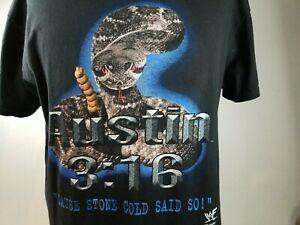 Rare Vintage Stone Cold Steve Austin 3:16 RattleSnake T Shirt 90s XL wwf said so