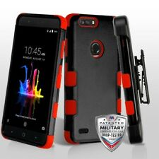 BLACK RED TUFF COVER +STAND/CLIP+ SCREEN FILM FOR ZTE Blade Z Max Z982