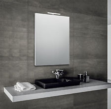 specchio per bagno 60x80 cm con cornice e con lampada led in alluminio