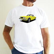 TRIUMPH STAG CAR ART T-SHIRT. PERSONALISE IT!