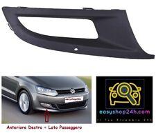 NUOVO VW POLO 6R 2009-2014 PARAURTI ANTERIORE INFERIORE CENTRALE GRIGLIA e nebbia luce finiture di serie