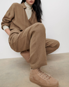 ZARA Long Striped Relaxed Slouch Crossover Jumpsuit L Large BNWT