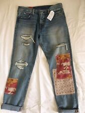 NEW Ladies LEVIS 501 CT  Taper leg JEANS woman size W29 L34 blue