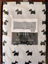 Cynthia Rowley Cute Black Scottie Dogs Gray Standard Pillowcases