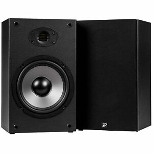 "Dayton Audio - B652-AIR - 6-1/2"" Bookshelf Speaker Pair with AMT Tweeter - Black"