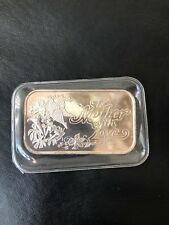 1 oz. Silver Bar. To Mother With Love. No Date