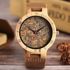 Nature Bamboo Wood Watch Unisex Wooden Deisgn WristWatch Original Wood