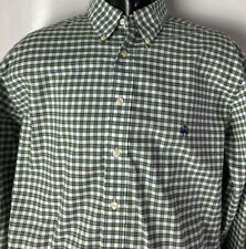 Brooks Brothers 346 Dress Casual Shirt Non Iron Supima Heavy Cotton Plaid Sz L