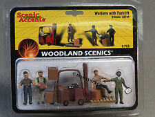 WOODLAND SCENICS WORKERS FORKLIFT o gauge train figures freight people ups A2744