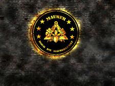 Hoch die Maurerkunst Maurer Schild Aufkleber T-shirt Kelle Schuhe Wappen Fahne