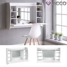 VICCO Table de maquillage MAX Coiffeuse table de toilette table murale blanc