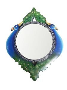 """Handmade Mirror Wall Vintage Wooden Framed  Hand Painted Carved Mirror 16""""x12"""""""