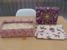 ORIGINS Cream/Red Make Up Bag & Gift Box