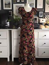 Dress Maxi 12 Slip Bias Floral Winter Event Occasion Ruffles Artisan Bohemian