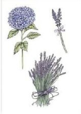 Clear Rubber Stamps - Romantic Provence - Hydrangeas & Lavender - 1091 - NEW