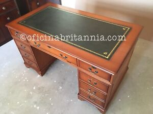 NEW! 4'x2' YEW Desk EXECUTIVE BESPOKE Direct from Manufacturer OFICINA BRITANNIA