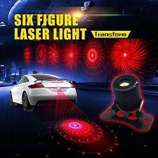 Patterns Car Motorcycle Laser Fog Tail Light Rear Brake Warning Anti-Collision