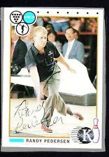 1990 Kingpins Bowling #90 Randy Pedersen Hand Signed Autograph HTD 128