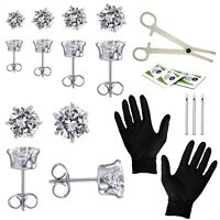 BodyJ4You 22PC Piercing Steel Kit 18G 20G Crystal CZ Stud Earrings