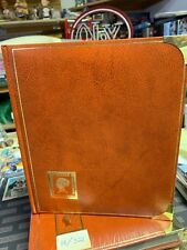 Leather Bound Stamp Book. Metal Corners 16/32 Royal