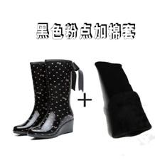 Hunter Womens Waterproof Garden Work PVC Knee High Tall Wedge Rubber Rain Boots