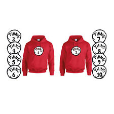 Thing 1 Thing 2 - 10 Fancy Dress Book Day HOODIE Sold Separately 3-4 to 5XL