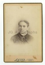 19th Century Fashion - Woman - Cabinet Card by L.W. Cook, Boston, MA