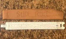 Vintage Acu-Math Slide Rule Model 400B w/ Protective Vinyl Sleeve Mannheim Type