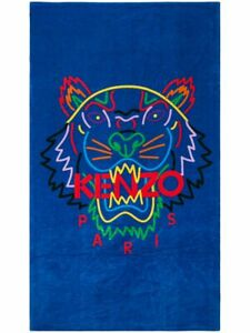 Kenzo Tiger Logo Beach Towel Multi-Blue