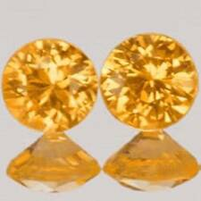 Yellow Round Transparent Loose Sapphires